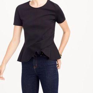 J. Crew flutter-hem t-shirt peplum Top